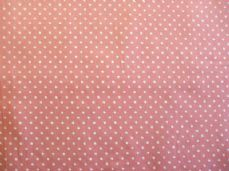 dusky Pink with 3mm White Spot 100% Cotton Fabric